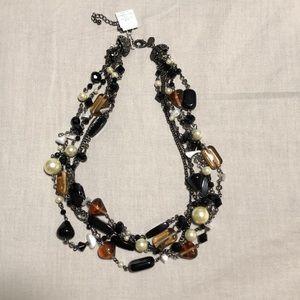 Lia Sophia multi layered and beaded necklace